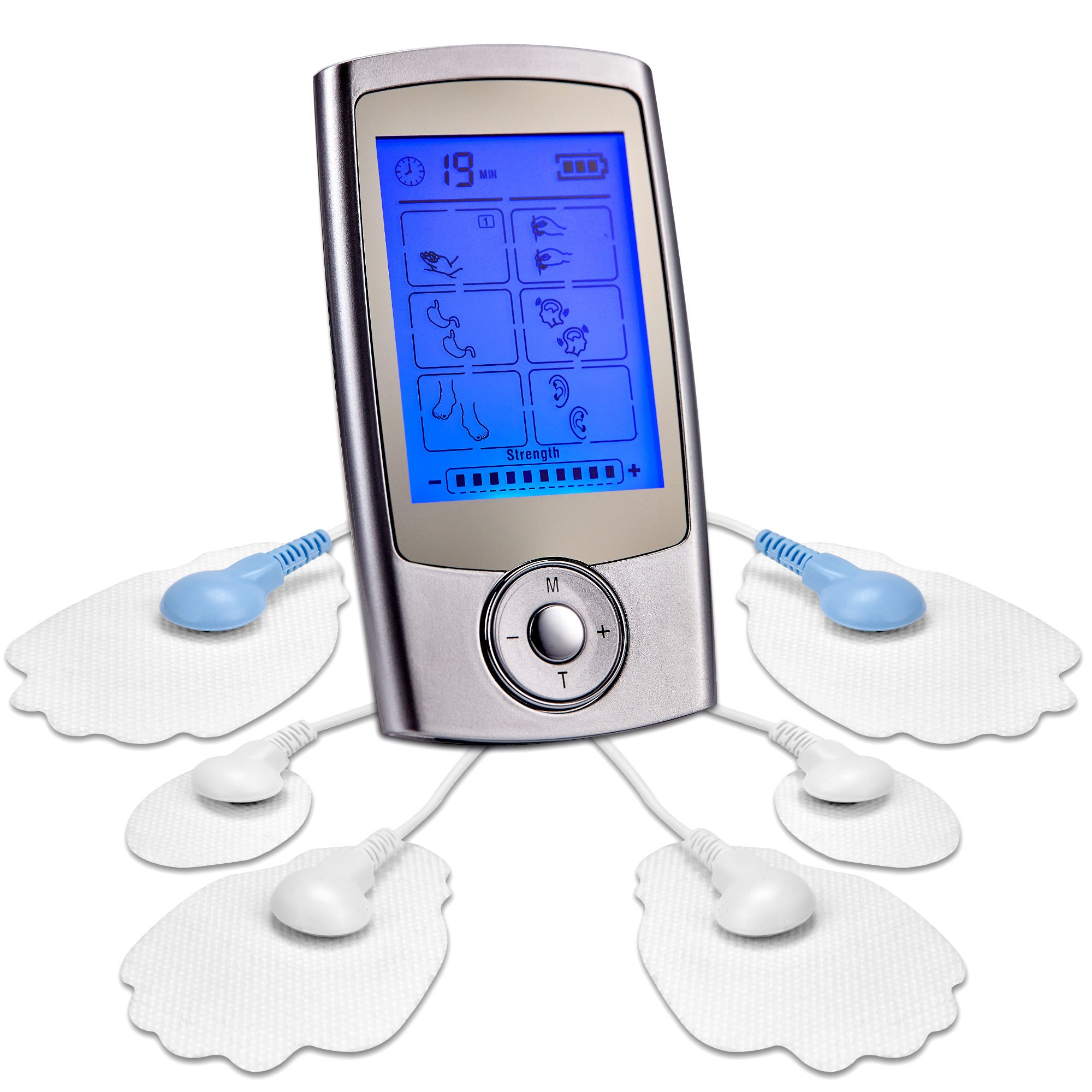 Tens Unit, FDA Approved LuxFit 16 Modes Portable Tens Machine EMS Electric Pulse Massager - Electrotherapy Back Pain Management and Muscle Stimulator