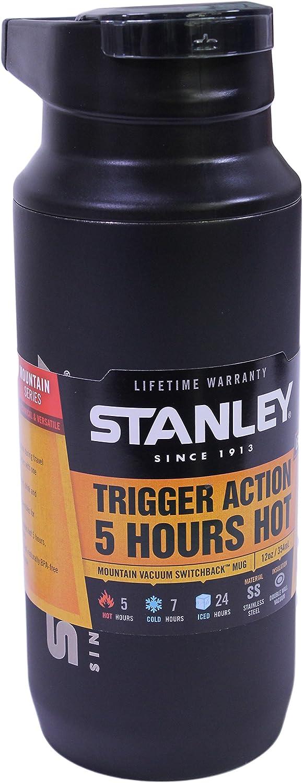 Black 12 oz Stanley Mountain Vacuum Switchback Mug