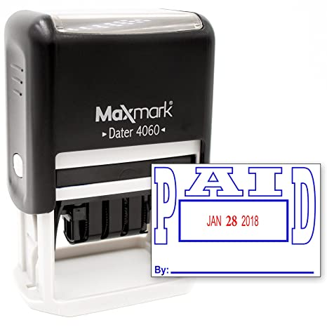 Amazon MaxMark Date Stamp Large With Paid Self Inking