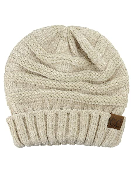8e042e6fe CC Women's Chenille Oversized Baggy Soft Warm Thick Knit Beanie Cap Hat