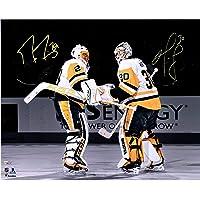 "$189 » Marc-Andre Fleury & Matt Murray Pittsburgh Penguins Autographed 16"" x 20"" Spotlight Photograph - Fanatics Authentic Certified"