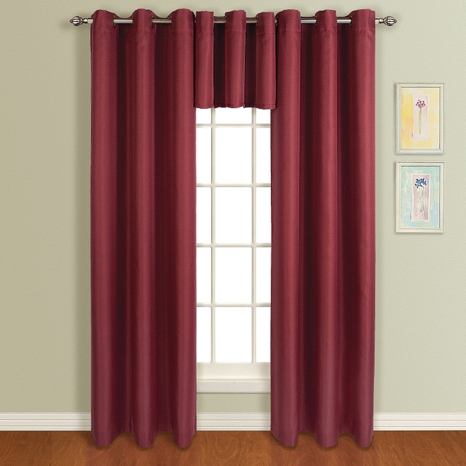 Amazon.com: United Curtain Mansfield Woven Grommet Valance, 50 by ...