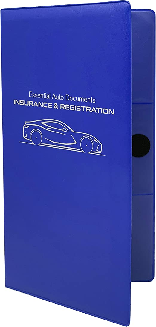 Autostyle Car Insurance and Registration Card Holder 2 Pack Red Premium Wallet for Important Automobile Documents
