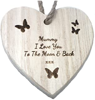 Love you more than Yesterday Wooden Heart Hanging Plaque Mirror Mirror Range