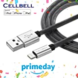 CELLBELL Apple Certified Lightning to USB Cable - 6 Feet (2 Meters) - Black