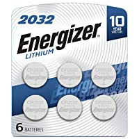 Energizer CR2032 Batteries, 3V Lithium Coin Cell 2032 Watch Battery, (6 Count)