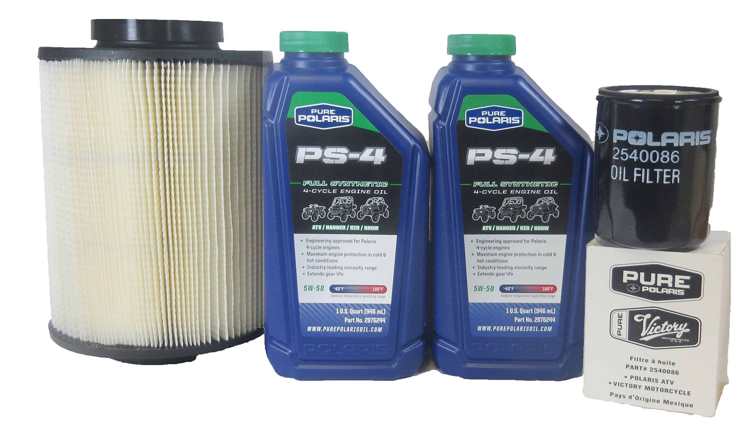 2008-2014 Rzr 800, Efi/Eps All Options Genuine Polaris Oil Change and Air Filter Kit