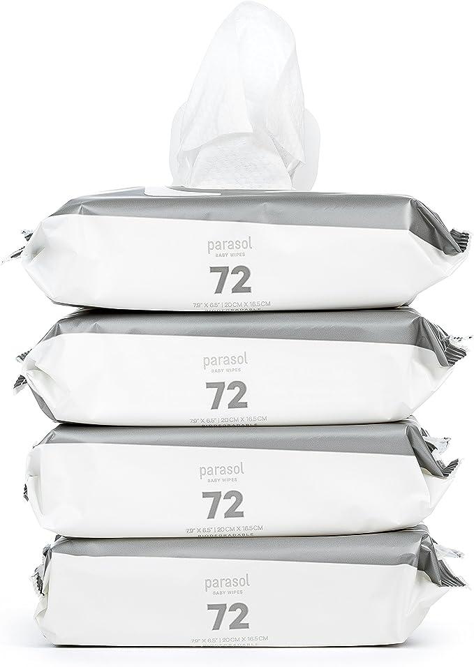 PARASOL Aire perla biodegradable Toallitas - 4 paquetes de 72 ...