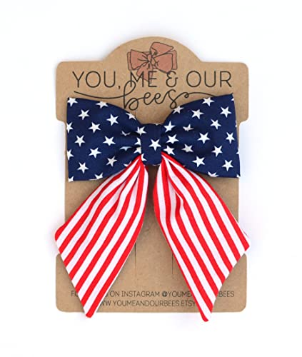 July 4th Hair Bow July 4Th bow Fourth of July Hair Bow 4th of July Hair Bow Fourth of July Bow