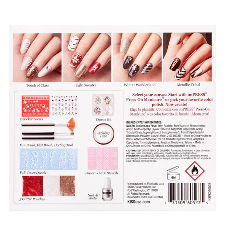 NSPK01-0506B) - (Choose from 7 Options) Kiss Salon Secrets Nail Art ...