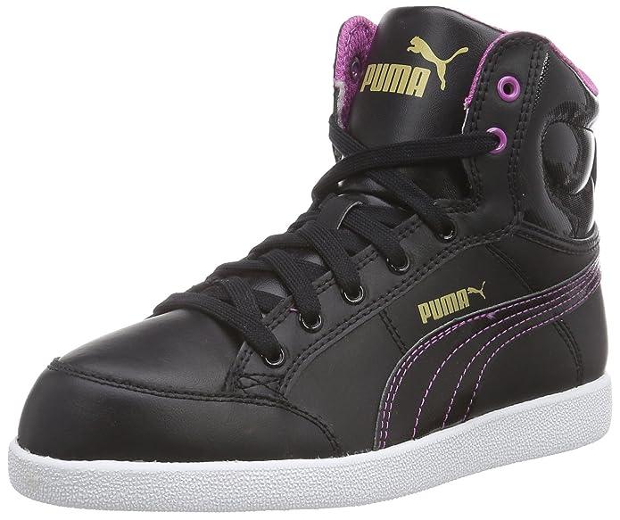 Puma Ikaz Mid, Girls' Hi-Top Sneakers, Black (Black-Meadow Mauve 05), 3.5 UK:  Amazon.co.uk: Shoes & Bags