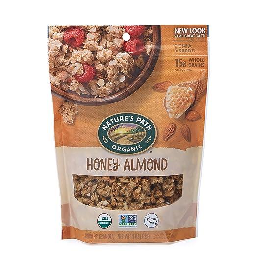 Natures Path Honey Almond Granola, Healthy, Organic & Gluten Free, 11 oz Pouch