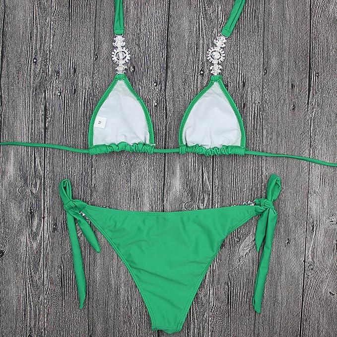 Bikini-Stany Zjednoczone I Europa Green Diamond Bikinis Split Swimsuit Bandażem Réduction Obtenir Authentique PTeY15OBiZ