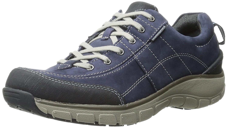 CLARKS Women's Wave Trek Sneaker. B0072GDOKS 7 B(M) US|Navy Nubuck