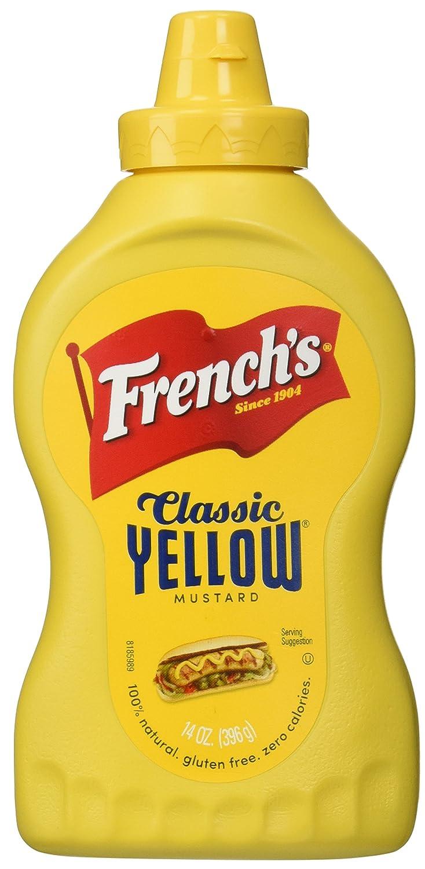 1874e9bda5bf Amazon.com   French s 100% Natural Classic Yellow Mustard Net WT 14 oz    Grocery   Gourmet Food