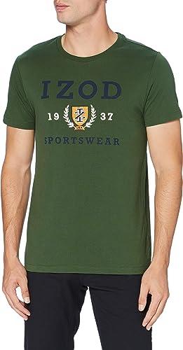 TALLA M. Izod Graphic Embroidery tee Camiseta para Hombre