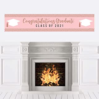 product image for Big Dot of Happiness Rose Gold Grad - 2021 Graduation Party Decorations Party Banner
