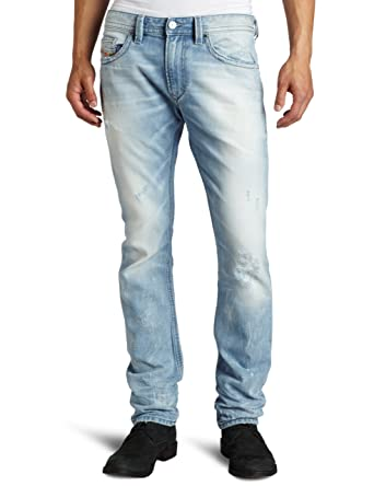 55d4a031 Diesel Men's Thavar Slim Skinny Leg Jean 8880M, Denim, 30x32: Amazon ...