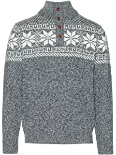 02b70723d Gant Men s Cozy Fair Isle Crew Sweater Grey in Size X-Large  Amazon ...