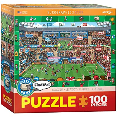 EuroGraphics Soccer Spot & Find 100 Piece Puzzle: Toys & Games