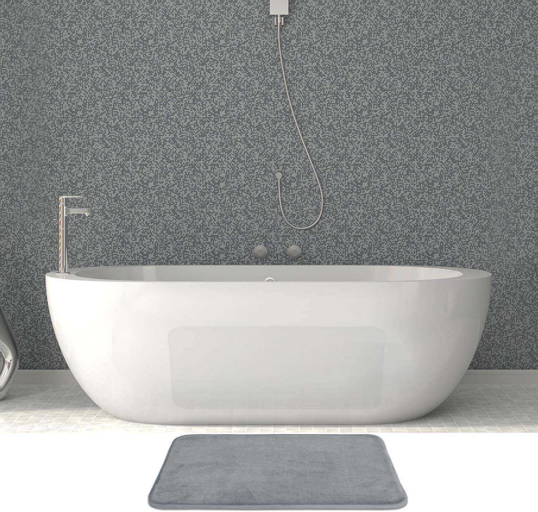 1 Contour 20 x 20 and 1 Small 17 x 24 Burgundy Includes 1 Large 20 x 32 AOACreations Non Slip Memory Foam Bathroom Bath Mat Rug 3 Piece Set