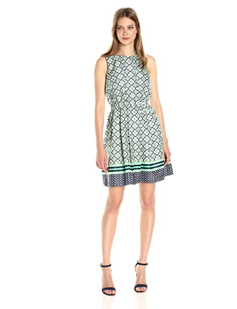 6cbf0b6509c02d Donna Morgan Womens Printed Fit and Flare Dress Dress: Amazon.ca: Clothing  & Accessories