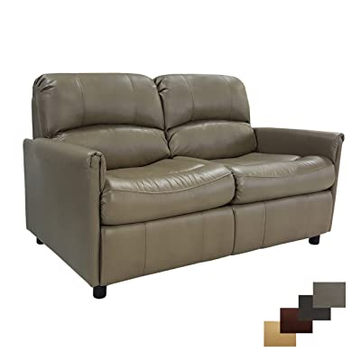"""RecPro Charles Collection   60"""" RV Hide A Bed Loveseat   RV Sleeper Sofa   Pull Out Couch   RV Furniture   RV Loveseat   RV Living Room (Slideout) Furniture   Putty"""