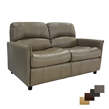 RecPro Charles 60u0026quot; RV Sofa Sleeper W/ Hide A Bed Loveseat Putty RV  Furniture