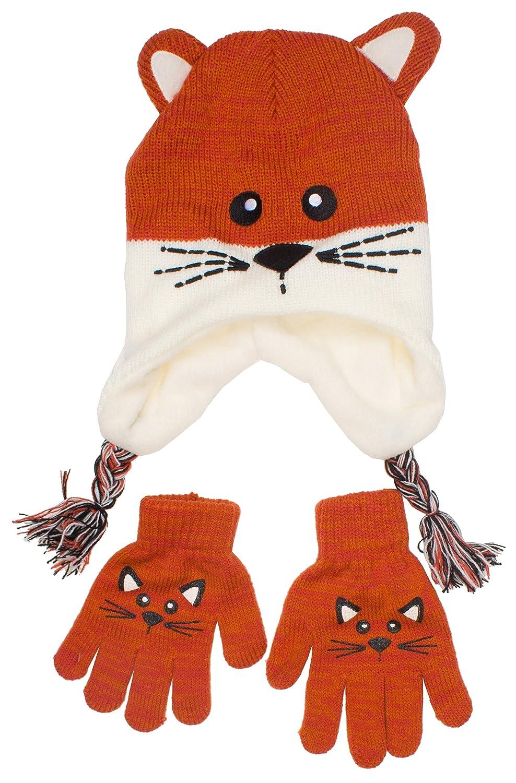ABG Children's Trapper Scandinavian Critter Inner Fleece Winter Hat for Girls