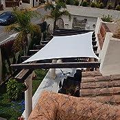 Sunnylaxx Vela de Sombra Rectangular 2.5 x 3 Metros, toldo ...