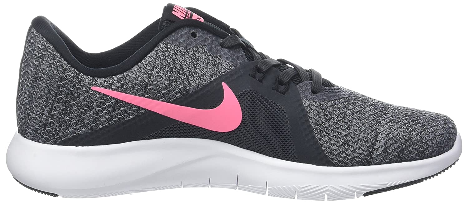 NIKE Women's Flex 8 Cross Trainer B0761Y9FSW 6.5|Anthracite/Sunset Pulse/Black