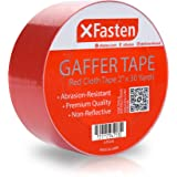 XFasten Professional Grade Gaffer Tape, 2 Inch x 30 Yards (Red), Colored Gaffer Floor Tape for Cables, Photography, Stage Arrangement, and Interior Design