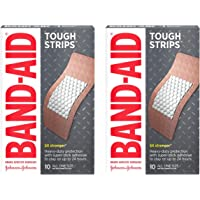 Band-Aid Brand Tough Strips Adhesive Bandages for Wound Care, Durable Protection for Minor Cuts and Scrapes, Extra Large Size, 10 ct