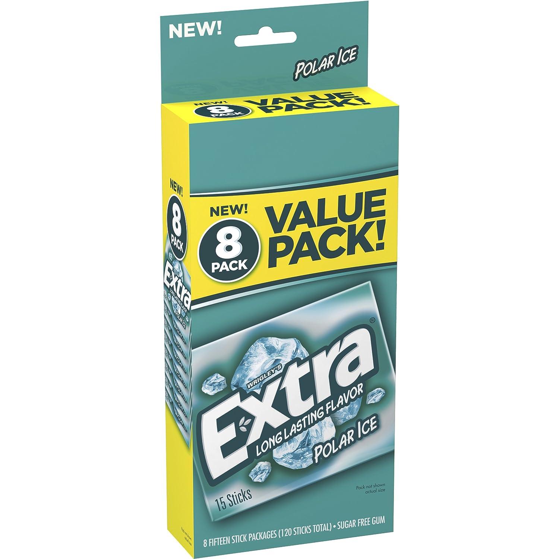 EXTRA---Polar Ice Sugarfree Gum--Icy Fresh, Mint Flavored ...