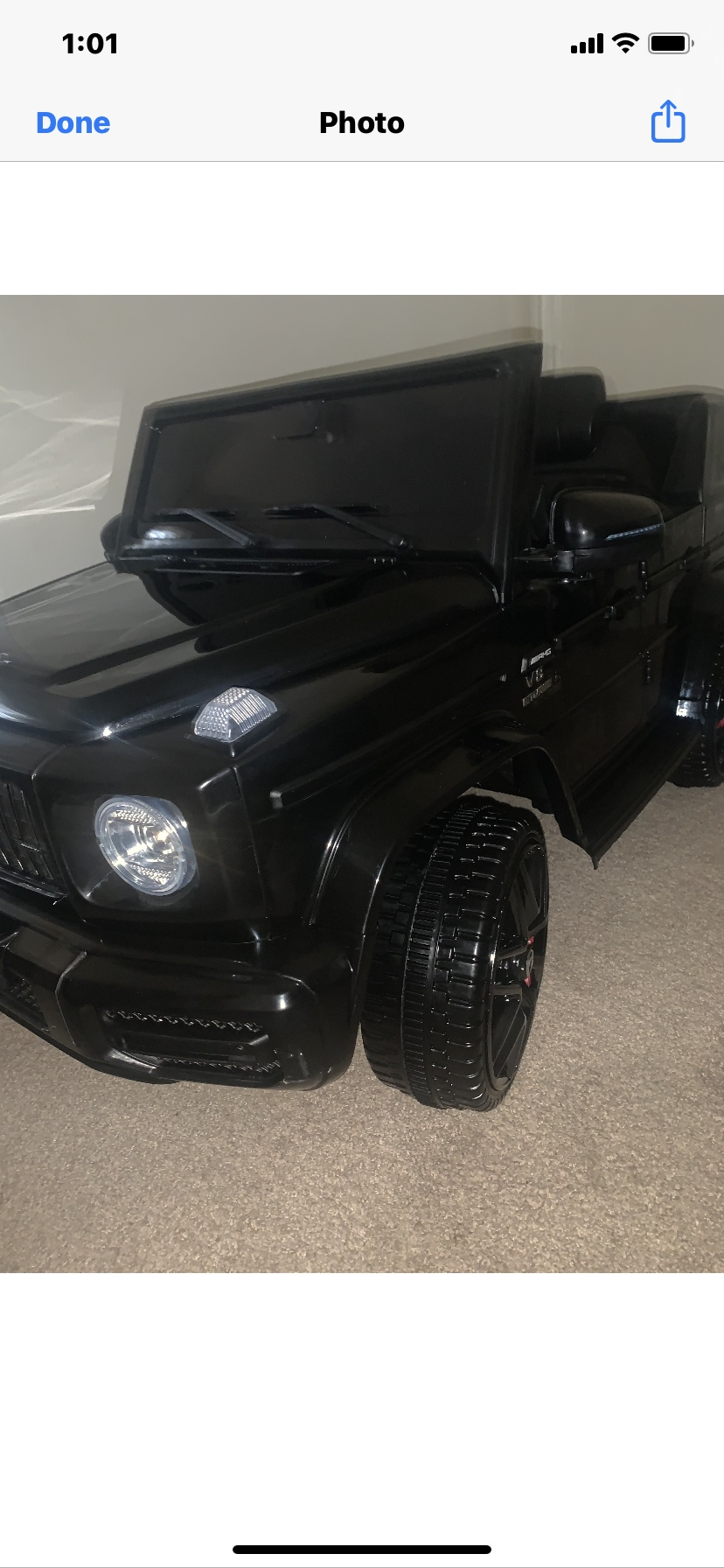 12V Mercedes-Benz AMG G63 Kids Ride On Cars Toys with Remote Control, Black photo review
