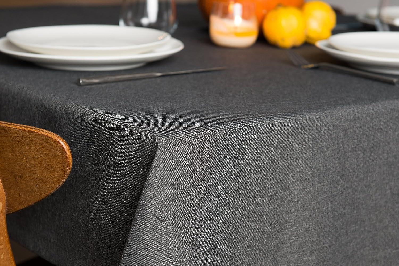 Rollmayer abwaschbar Tischdecke Wasserabweisend Lotuseffekt (Melange Rot Rot Rot 35, 150x350cm) Leinenoptik Tischtuch mit pflegeleicht Fleckschutz, Rechteckig, Farbe & Größe wählbar B076ZSJCL8 Tischdecken 5a3e92