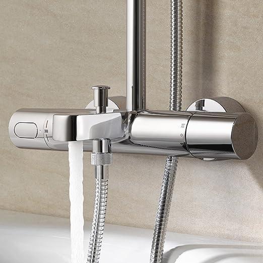 Grohe Rainshower System - Sistema de ducha con termostato de baño 210 mm Ref. 27641000: Amazon.es: Bricolaje y herramientas