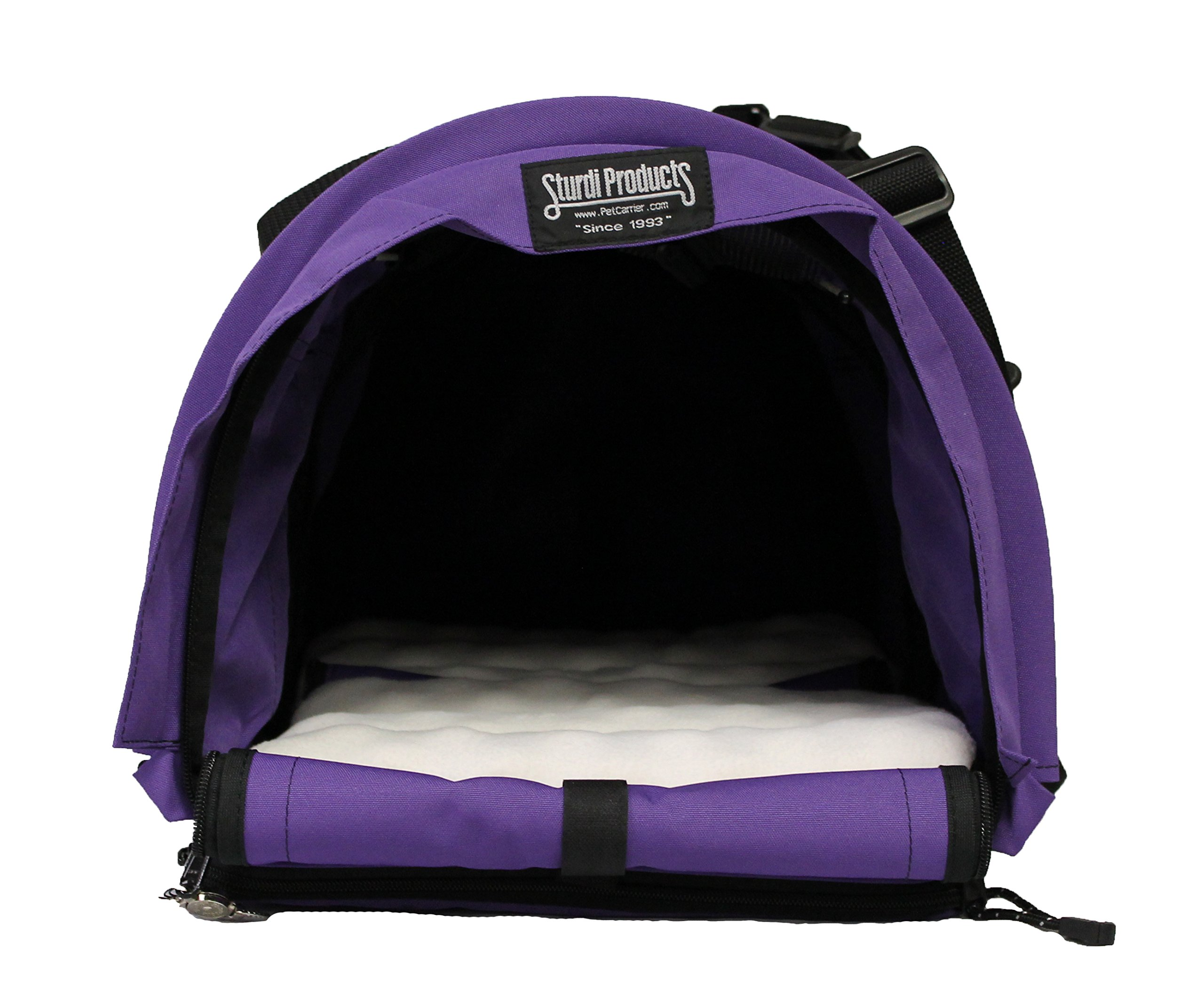 Sturdi Products Double Sided Divided Pet Carrier, Large, Purple