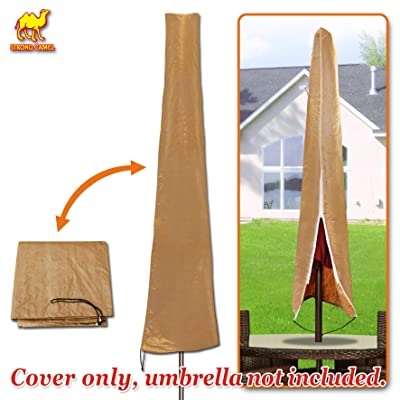 Strong Camel Patio Hanging Umbrella Fit 10'-13' Protective Winter Cover Outdoor Furniture Protector Protect -Tan Color : Garden & Outdoor
