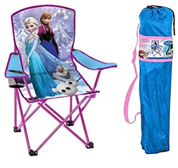 Disney Frozen Kids Folding Chair With Cup Holder And Carry Bag