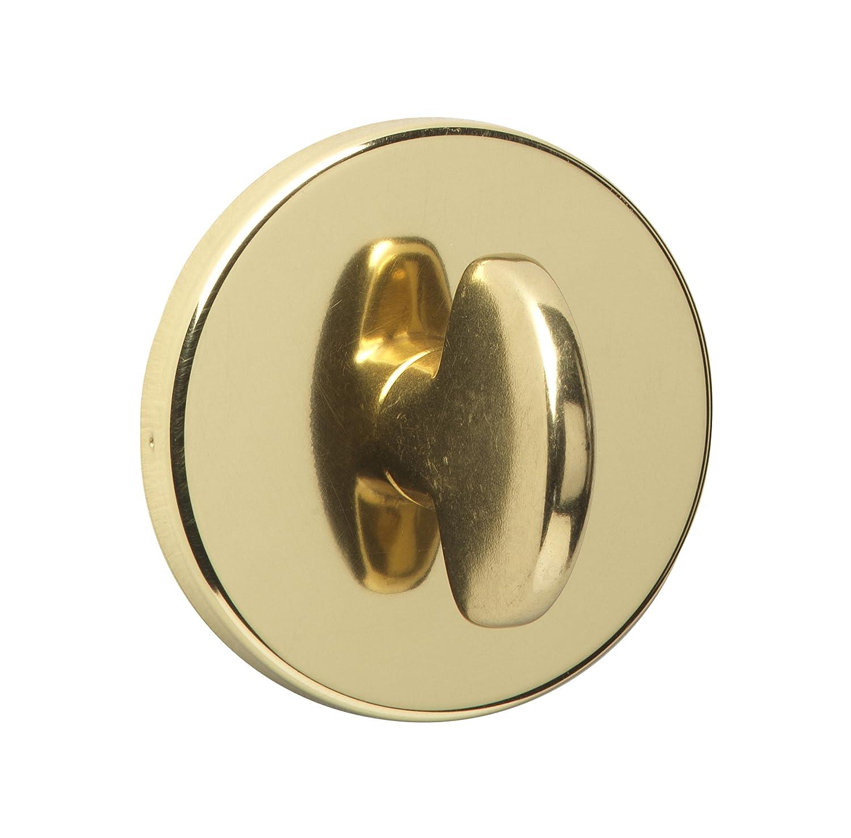 URFIC 18-398-01 Bathroom Escutcheon Polished Brass Turn and Release Set