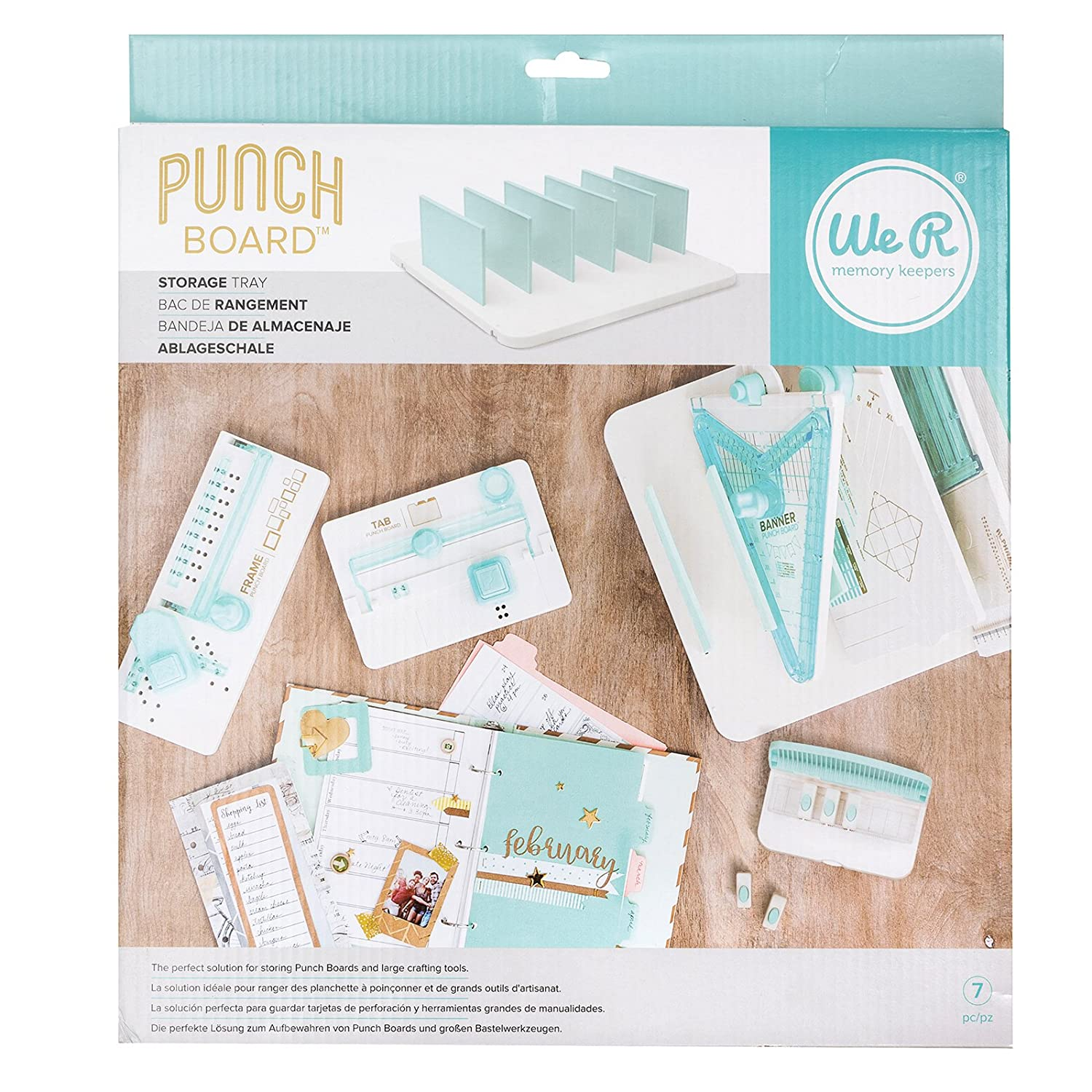 We R Memory Keepers 660092 Punch Board Storage Off White