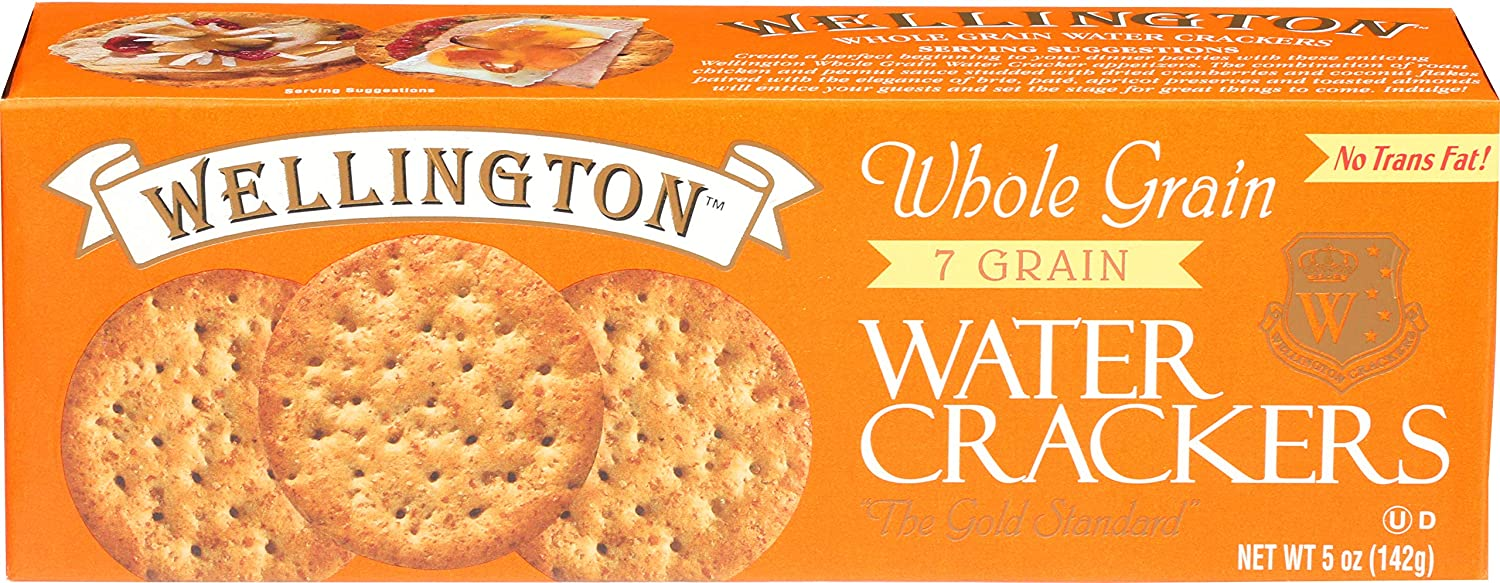 Wellington Whole Grain Water Crackers, 5-Ounces (Pack of 12)