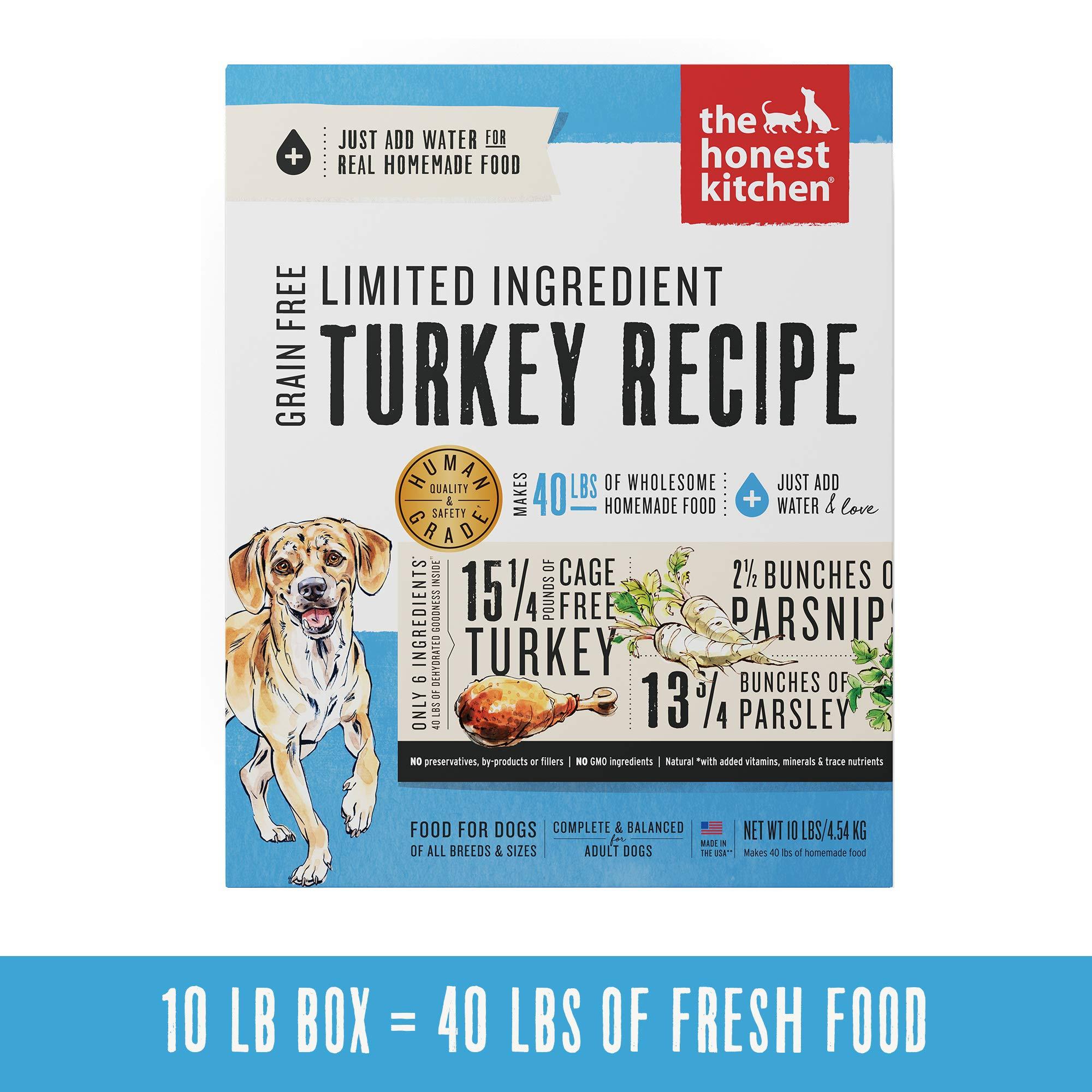 Honest Kitchen Limited Ingredient Turkey Dog Food Recipe  10 lb box - Marvel by Honest Kitchen