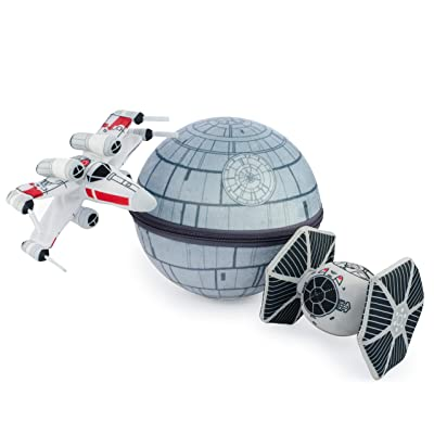 seven20 Scenez Star Wars Death Star Collectible Plush Set, Gray: Toys & Games