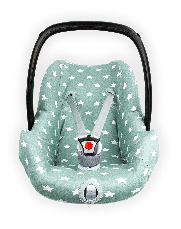 Autositzbezug 0 Thijs Jade Briljant Baby 100/% Interlock hochwertige qualit/ät Gruppe 0 gilt f/ür das Alter von 0-12 Monaten
