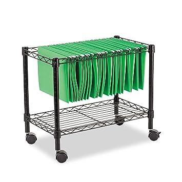 rolling file cart walmart costco with locking lid single tier black