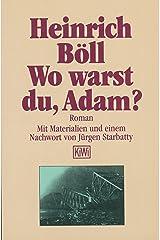 Wo warst du Adam (German Edition) Kindle Edition
