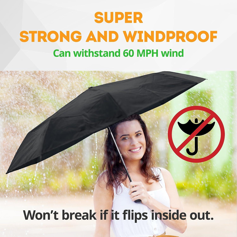 Fulton/® Stowaway Compact Supermini Folding Umbrella Black
