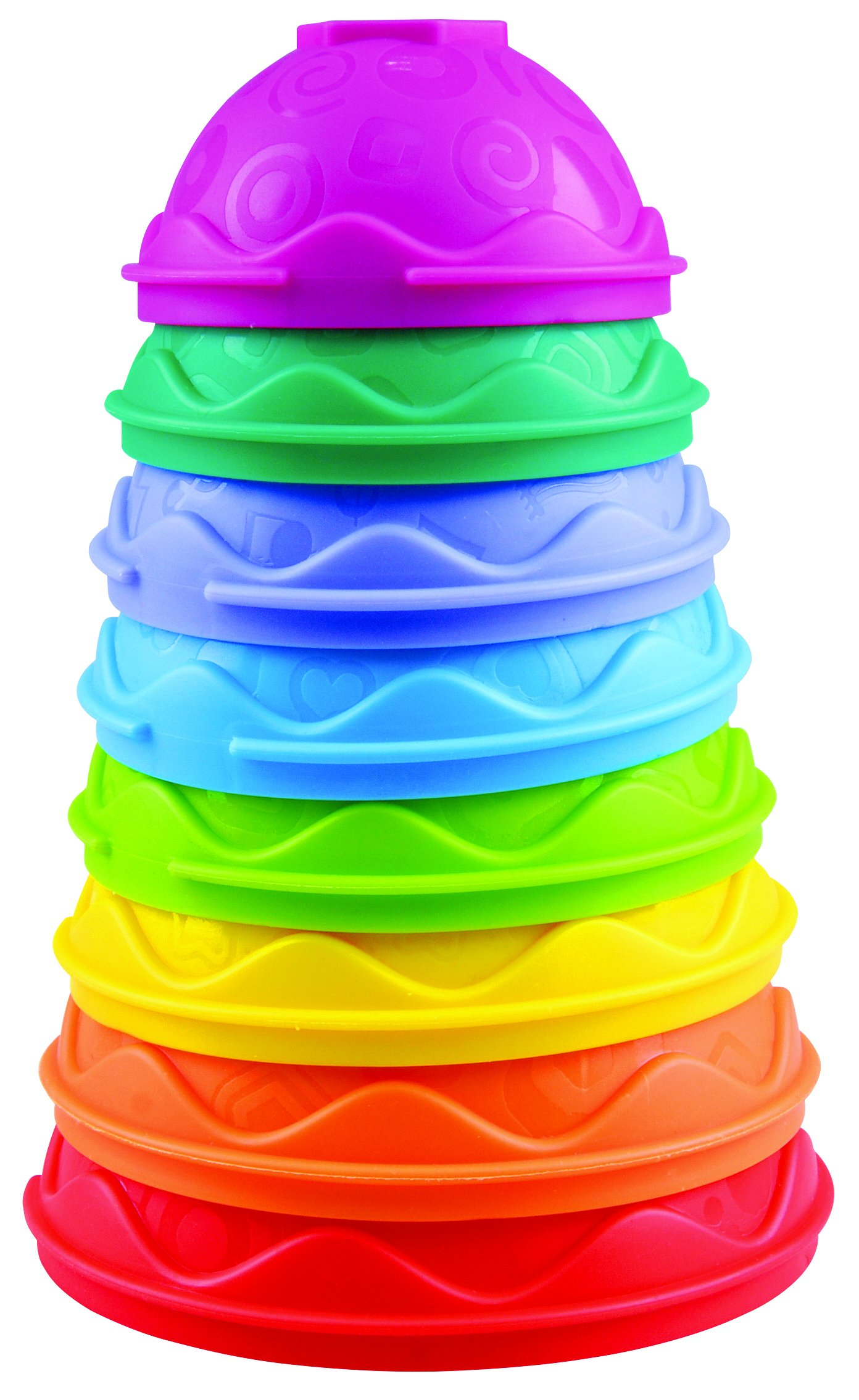 KidSource Stack and Build Cups Developmental Toy for Babies, Multi